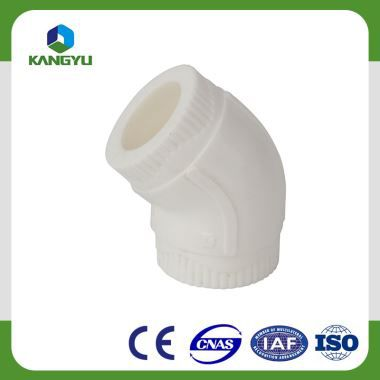 Eco Healthy Plastic PPR Pipe Fitting 45° Elbow for Drink Water Tube System